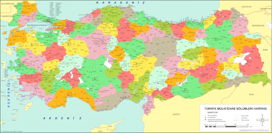Türkiye'nin Tüm İlçeleri 919 Tane Kopyala Yapıştır