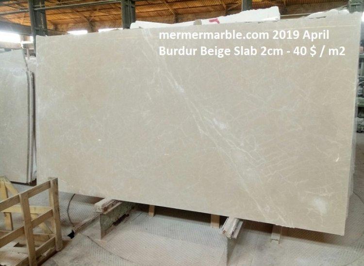 burdur beige marble slab 2 cm