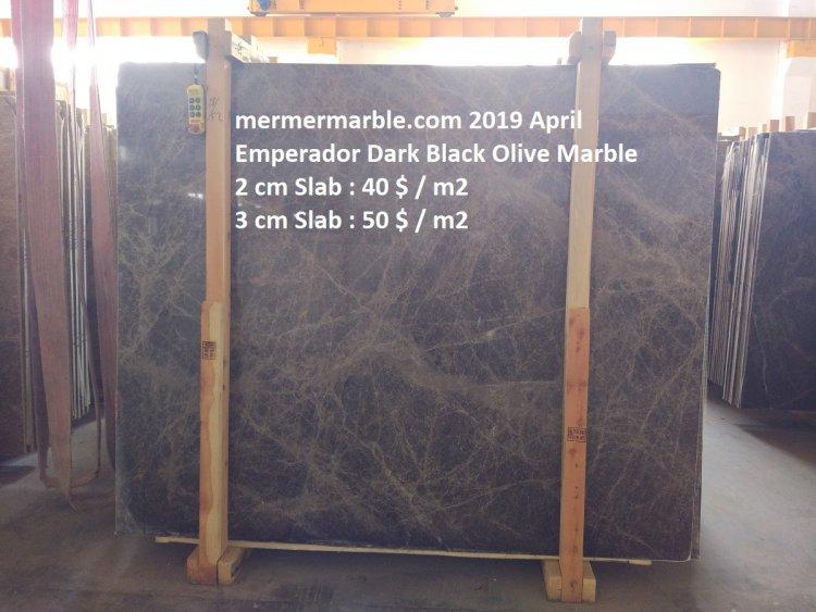 emperador dark marble, black olive slab