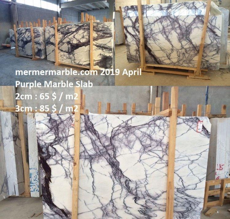 purple marble slab