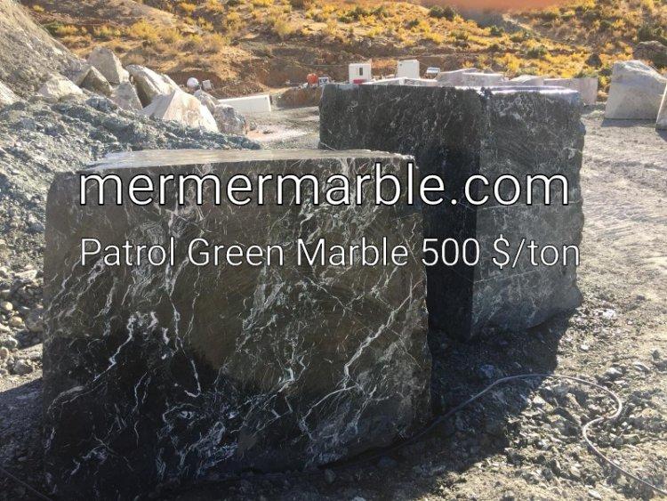 petrol yeşili mermer, patrol green marble