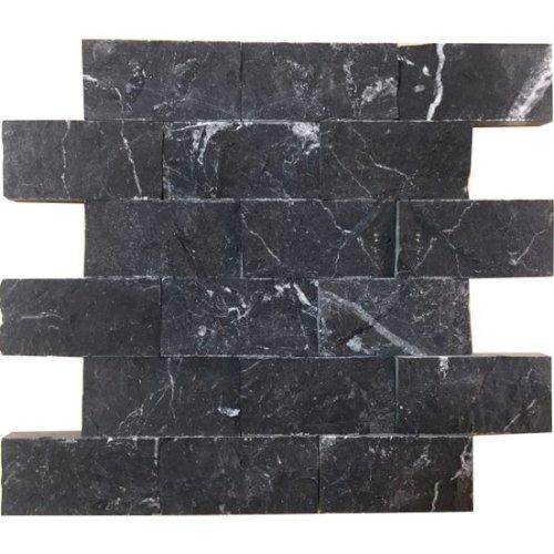Toros Siyahı Patlatma Mermer Doğaltaş 5x10 cm