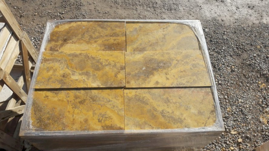 Goldener Marmor 2x30x60 Platten